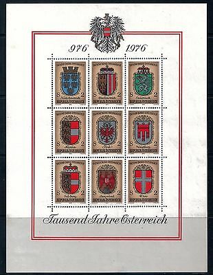 AUSTRIA - 1976 1000 Years Mini Sheet Mint LH 180 x 135 mm