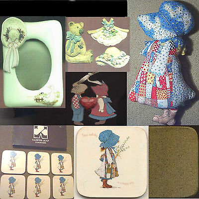 Hollie Hobby Assorted Themed SET Doll & Clover leaf Frame + Figures & Coasters