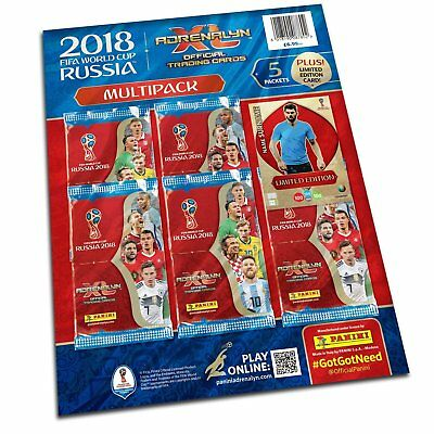 Panini FIFA World Cup 2018 Adrenalyn XL Trading Card Multipack