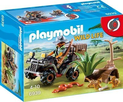 Playmobil Wildlife Evil Explorer and Quad with Pullback Motor