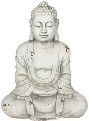 White Hands In Lap Sitting Garden Buddha