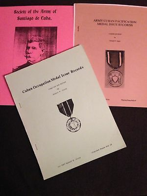 Planchet Press Cuban Occupation & Pacification Medal Society Santiago book lot