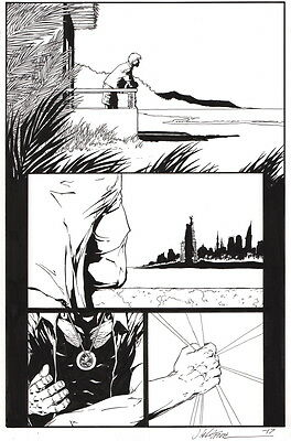 Jim Calafiore SIGNED DC Comic Red Lanterns #35 Original Art Page 4 Charles Soule