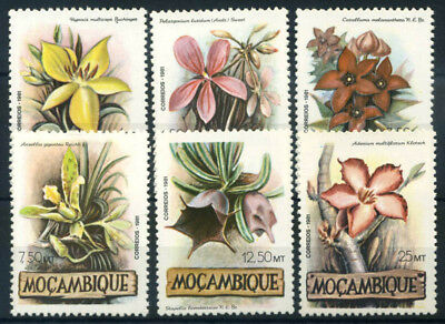 Mozambique 1981 Mi. 865-870 MNH 100% Flowers