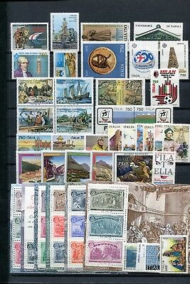 ITALY 1992 MNH COMPLETE YEAR 36 Stamps 6 Mini Sheets
