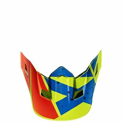 Fox Racing MX Spare Parts Mx17 V2 Helmet Visor-Nirv Yellow/Blue One Size 18255