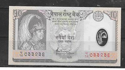 NEPAL #54 2005 unc POLYMER 10 RUPEES BANKNOTE PAPER MONEY CURRENCY BILL NOTE