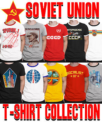 Mens SOVIET UNION T-Shirt Choice of SPACE Program Communism CCCP USSR Socialism