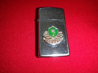 Year 1988 Zippo Slim Lighter SOCIALIST REPUBLIC Of VIETNAM AIR FORCE Insignia