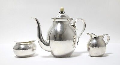 Silver coffee set, 3 pieces, forged. Germany (was imported to Sweden).