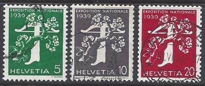 Switzerland Expo 1939 Coil Stamps (French) VFU sauber gestempelt