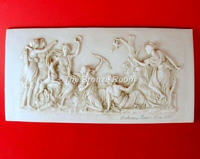 Diana / Artemis Hunting Marble Wall Plaque Made In England