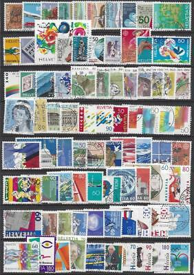 Schweiz Switzerland - Collection 1987-2004 (160 diff.) FU-VFU - 2 scans