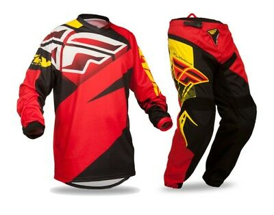 Fly Racing F16 motorbike bmx MX offroad pants jersey mens Red black yellow