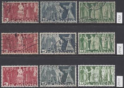 Schweiz Switzerland High Values 1938-55 VFU sauber gestempelt