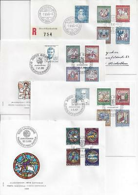 Switzerland Pro Patria 1965-71 7x FDC Art (2 scans)