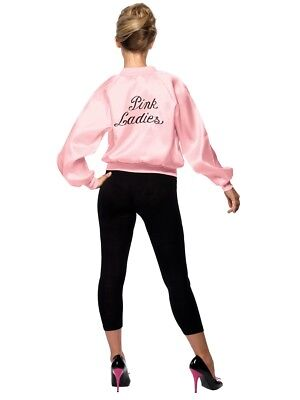 Official Pink Lady Jacket Pink Ladies Grease Fancy Dress - 28385