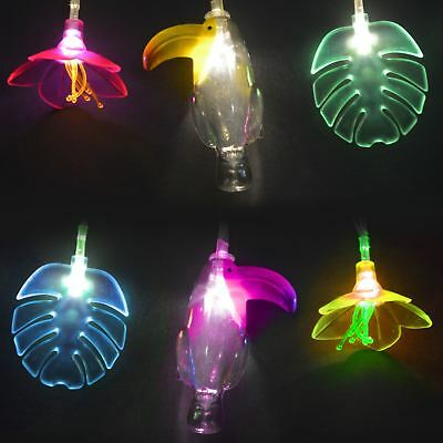 Tropical String Lights Toucan Palm Tree Battery Powered Operated Fairy