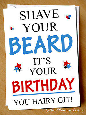 Funny Birthday Cards Shave Your Minge Hairy Bitch Novelty Funny