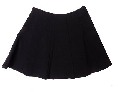 new M & S School Girls Black Flared Skirt with Stretch ages 9/10 LAST ONE