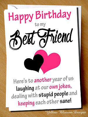 birthday greeting card bff mate banter funny humour comical best friend comedy