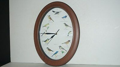 Singing Chirping Bird Wall Hanging Battery Operated Clock