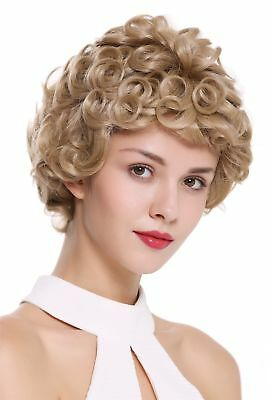 Wig me up Women's Wig Monofilament Hand Knotted short Curly Blonde DW2308