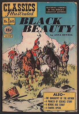 Classics Illustrated #60 HRN 62 VG 4.0 OW Black Beauty ORIGINAL EDITION