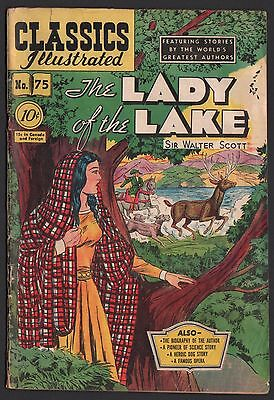 Classics Illustrated #75 HRN 75 G+ 2.5 OW/W The Lady of the Lake ORIGINAL ED