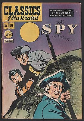 Classics Illustrated #51 HRN 51 G 2.0 OW The Spy ORIGINAL EDITION