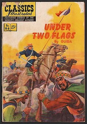 Classics Illustrated #86 HRN 87 G+ 2.5 OW Under Two Flags ORIGINAL ED