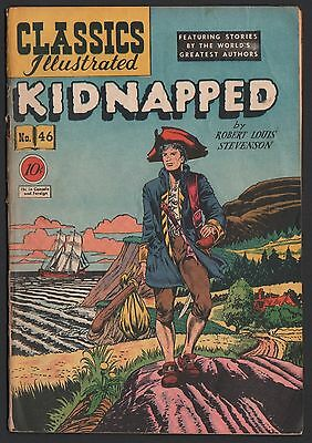 Classics Illustrated #46 HRN 47 G+ 2.5 OW Kidnapped ORIGINAL EDITION