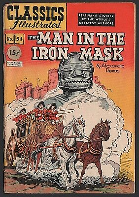 Classics Illustrated #54 HRN 55 G/VG 3.0 OW The Man in the Iron Mask ORIGINAL ED