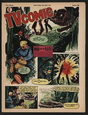 Tv Comic #800 From 1967 Stunning Pat Troughton Dr Who Cover. Hi Grade