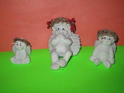 DREAMSICLES CHURB ANGELS ONE LARGE, 2 SMALL - Solid & Heavy in Weight - Cute -3