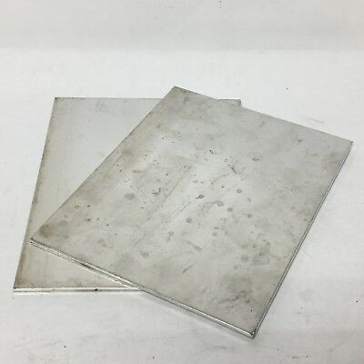 2 Piece Lot 7 x 5 Aluminum Sheet Plate Scrap Metal Material Stock Bar Flat Shim