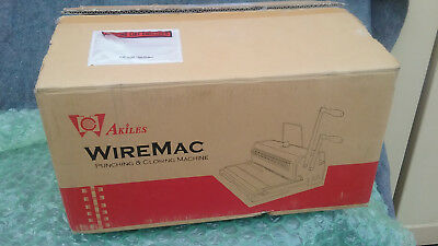 Akiles WireMac 31 Book Binder Punch Binding Machine Model AWM31 New open box.