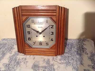 FRENCH Vedette Wall CLOCK Chiming Vintage/Antique - 2 Rods, 2 Hammers (2008)