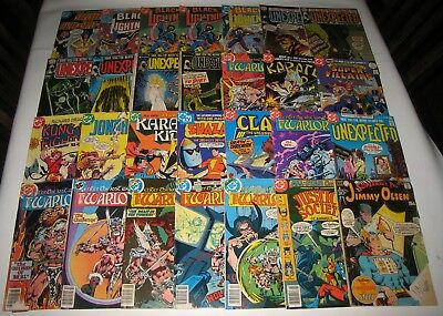 Lot of 28 Assorted Vintage DC Comics Black Lightning Unexpected & More HG7