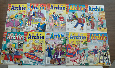 Lot of 10 Archie Comic Books from 1990s