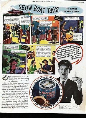 1935 Maxwell House Coffee Show Boat Days Ad