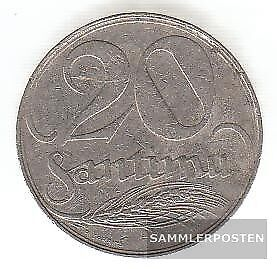 Latvia km-number. : 5 1922 very fine Nickel very fine 1922 20 Santimi Crest