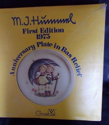 Mj Hummel Goebel First Edition 1975 Anniversary Plate Stormy Weather Goebel