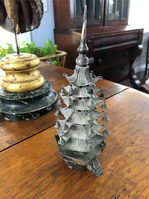 Lovely Chinese Or Japanese Sterling Silver Temple