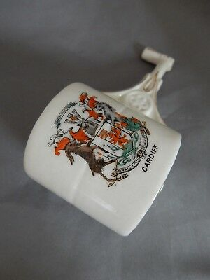 """Lovely Vintage Shelley Crested Ware Garden Roller - """"Cardiff"""""""