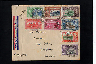 Trinidad & Tobago - 1948 - Kg Vi - Postal History Cover - With Port Of Spain Cds