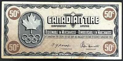 Vintage 1976 Canadian Tire 50 Cents Note - CTC-S5-E