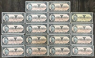 Lot of 18x 1987 Canadian Tire 10 Cents Notes ***Great Condition*** CTC-S9-C