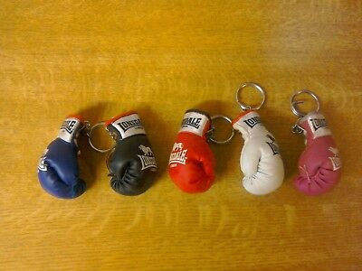 5 X Mixed colour Lonsdale boxing glove keyrings.