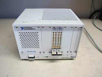 National Instruments NI PXI-1033 CHASSIS w/ (2) NI PXI 2593 Multiplexer Modules